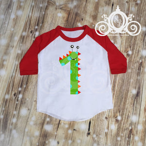 Monster Birthday Bodysuit, Raglan or TShirt Personalized with Number and Name
