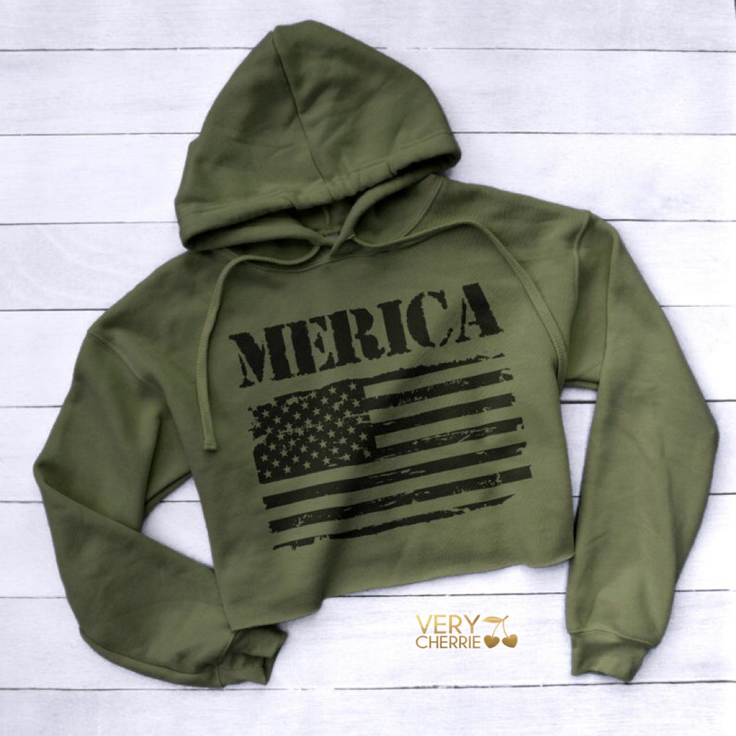 Merica Cropped Sweatshirt