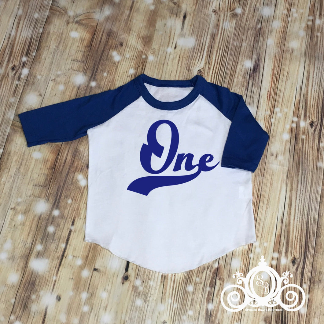 One First Bday Raglan
