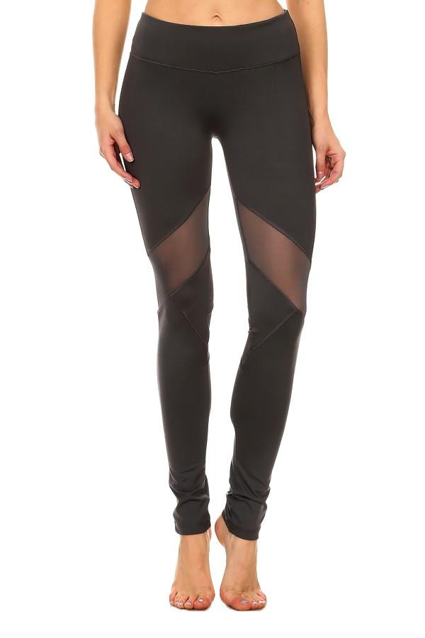Mesh Legging in Charcoal