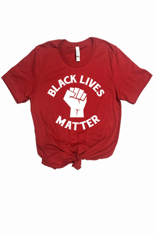 BLM Tee in Red