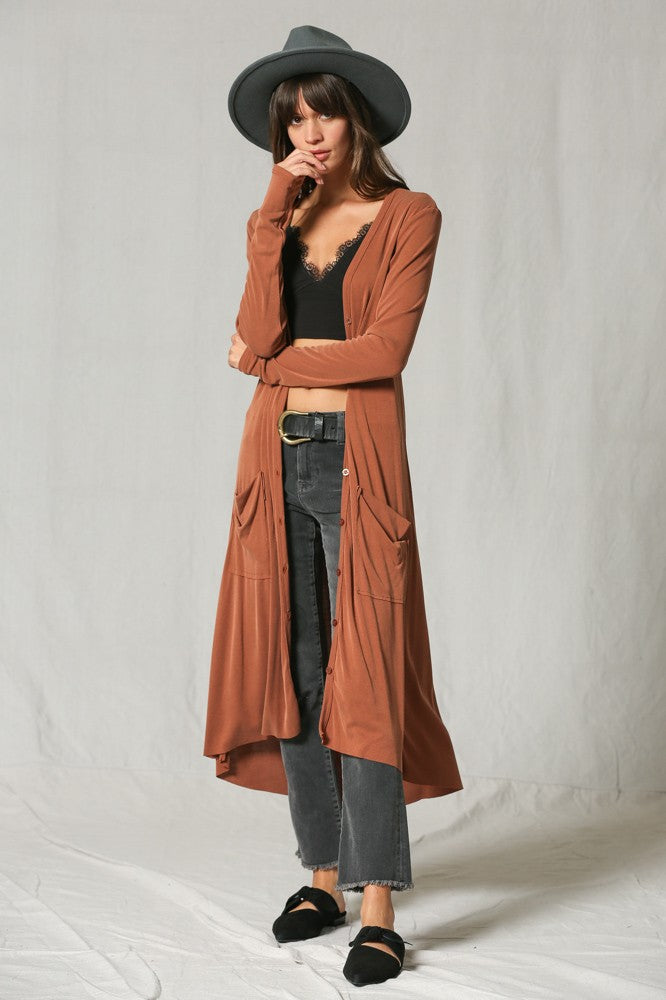 Cinnamin Duster with Pockets