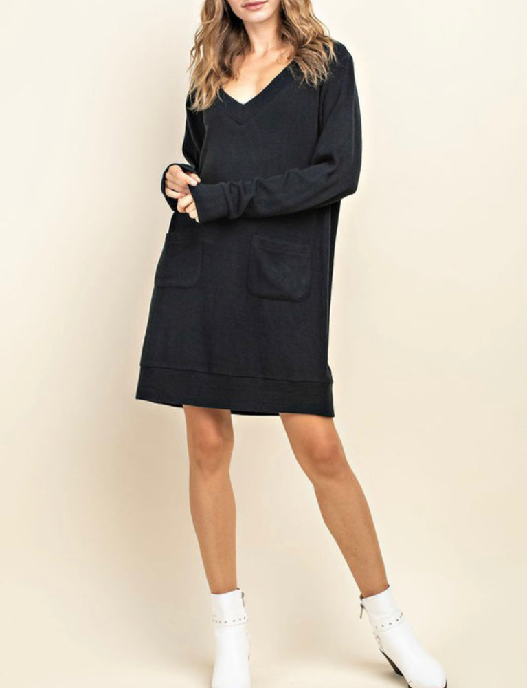 Cozi Oversized Sweater in Black