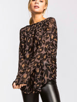 Cheetah Plum Top