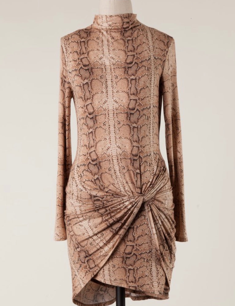 Snake It Wrap Dress