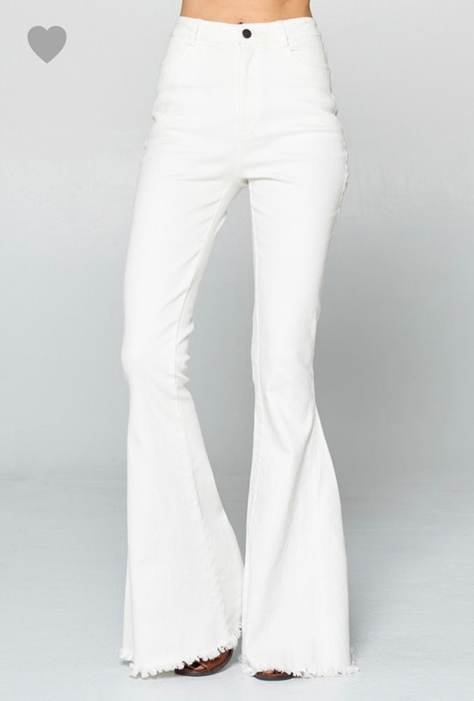 White Denim Bell Bottoms