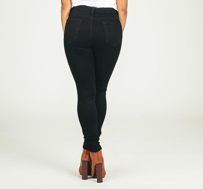 Just Black High Waist Skinny Jeans