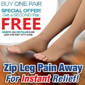 Zip Up (Anti-Spider Vein )Compression Socks < buy 1 FREE 1 >