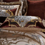 Lelia Egyptian Cotton Silk Embroidered Duvet Cover Set
