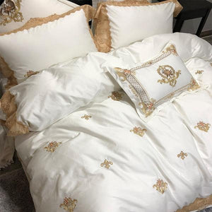 Penelope Embroidery Egyptian Cotton Royal Duvet Cover