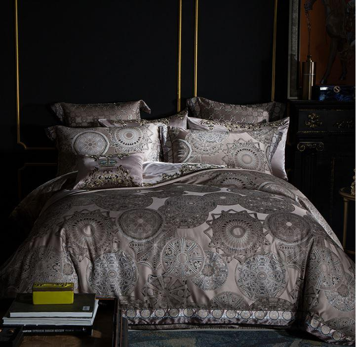 Almericus Royal Silk Satin Duvet Cover Set