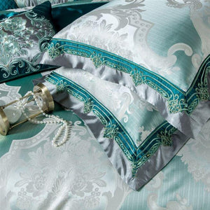 Odetta Egyptian Cotton Satin Duvet Cover Set
