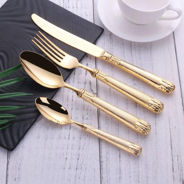 Véronique Gold Flatware Set