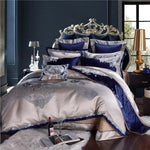 Prudentia Cotton Silk Jacquard Duvet Cover Set