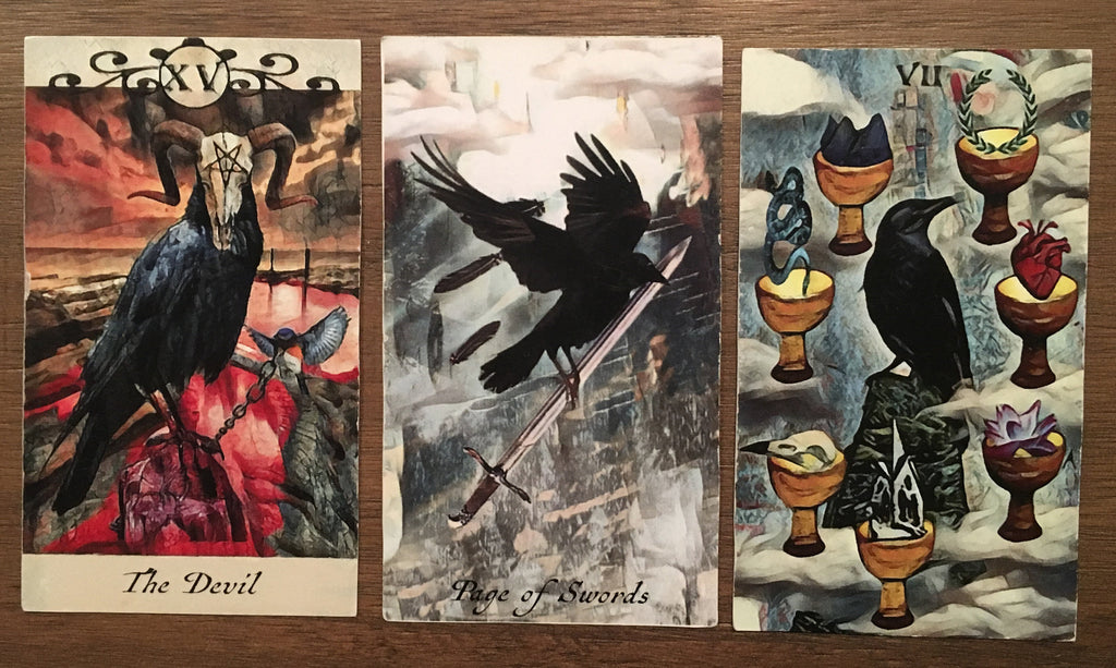 General Three Card Crow Tarot Reading - Sunday June 3