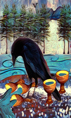 5 of cups - crow tarot