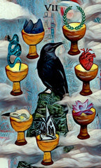 7 of cups - crow tarot