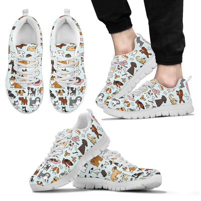Dogs Print Sneakers