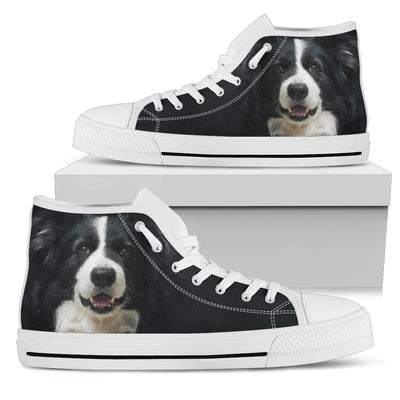 Border Collie High-Top Shoes