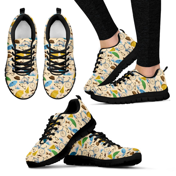 Bicycle Pattern Sneakers