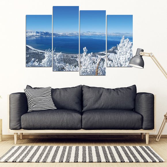 Lake Tahoe Winter Panoramic Wall Art
