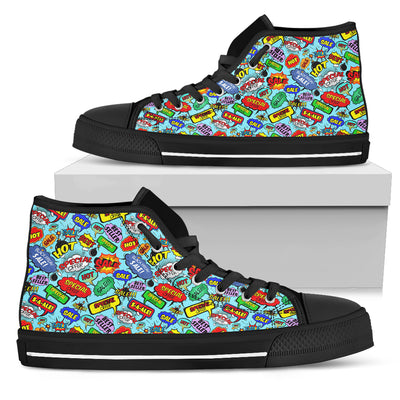 Comic Bubble High-Tops