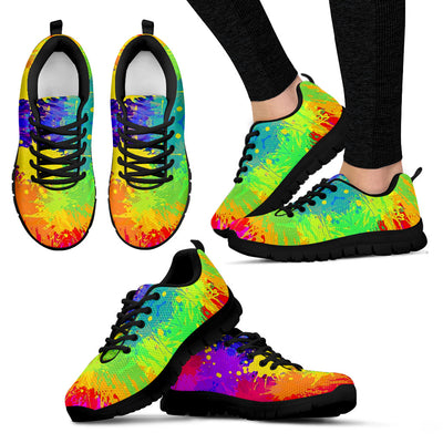 Paint Pattern Sneakers