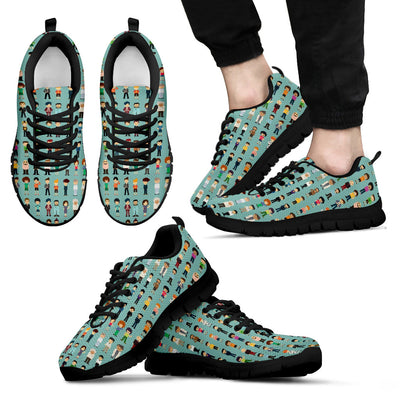 Occupational Pattern Sneakers