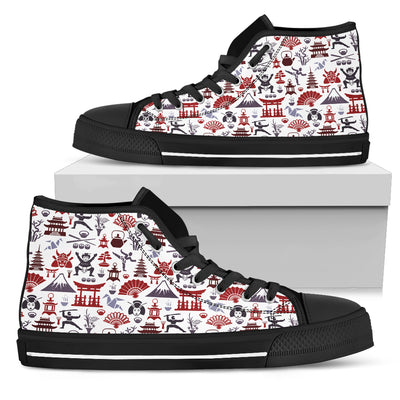 Japanese Pattern High-Tops