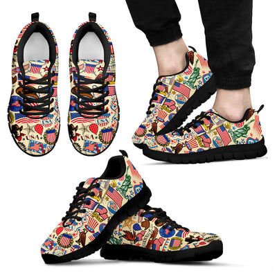 USA Pattern Sneakers