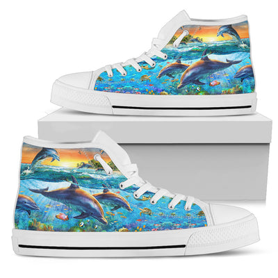 Dolphins High-Top Shoes
