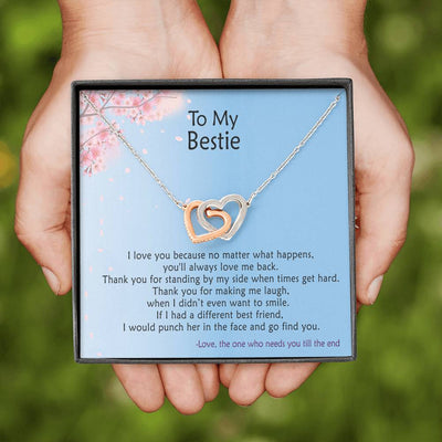 To My Bestie - I would Punch Her - Necklace