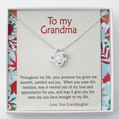 To Grandma - Given me Warmth - Necklace