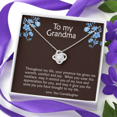 To Grandma - Throughout my life - Necklace