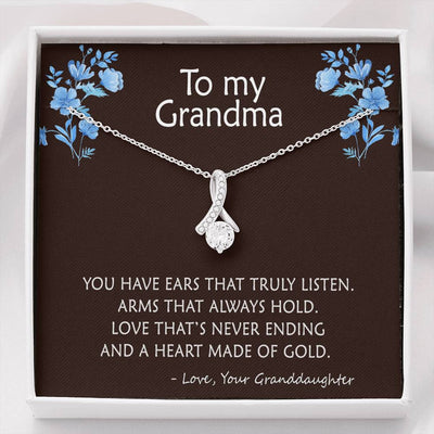 To Grandma - Heart made of Gold - Necklace