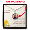 To Grandma - Ears That Truly Listen - Upload Your Own Photo Necklace