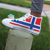 Norway Flag High-Top Shoes