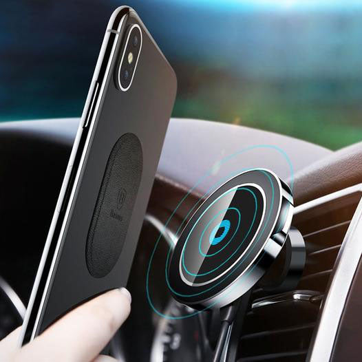 Sleek 360° Magnetic Car Mount (+optional) QI Wireless Charging