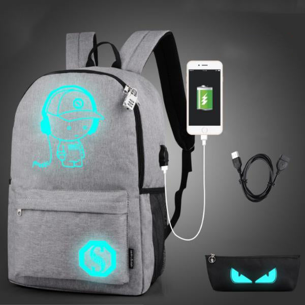 27L Noctilucent Anti-Theft Backpack - Pineapple Deals