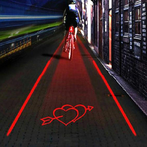 Red Bike-Lane Laser Projector - Safety Tech - High Viz, Waterproof & Reliable