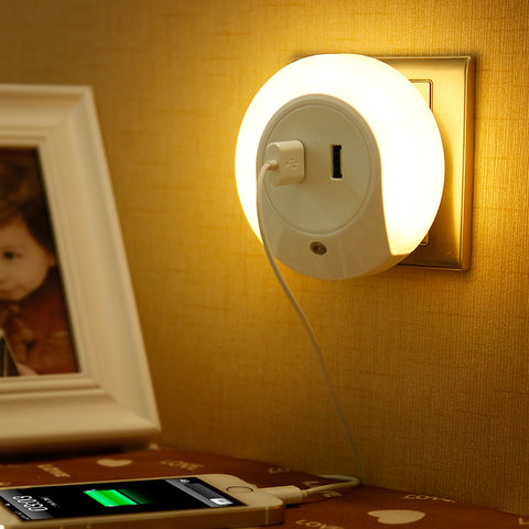 LED Night Light w/ 2 USB Ports