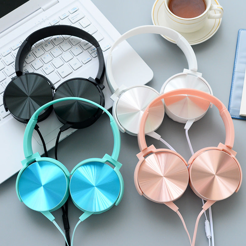 Rose Gold, Cyan, Black, & Silver Headphones