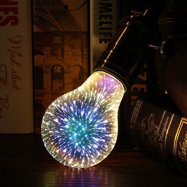 3D Silver-Plated Galaxy Bulbs