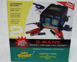 BATTERY TENDER - 2 bank 12 Volts @ 1.25 Amps