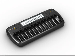 12 Slot AA/AAA NiMH/NiCD LCD Fast Charger(DC)