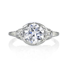 Load image into Gallery viewer, Platinum Art Deco Diamond Ring