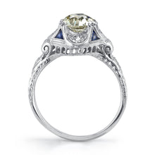 Load image into Gallery viewer, Early Art Deco Platinum and Diamond Ring