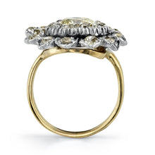 Load image into Gallery viewer, Silver, gold and diamond ring