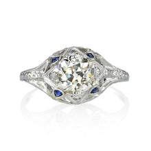 Load image into Gallery viewer, Edwardian Diamond and Blue Sapphire Ring