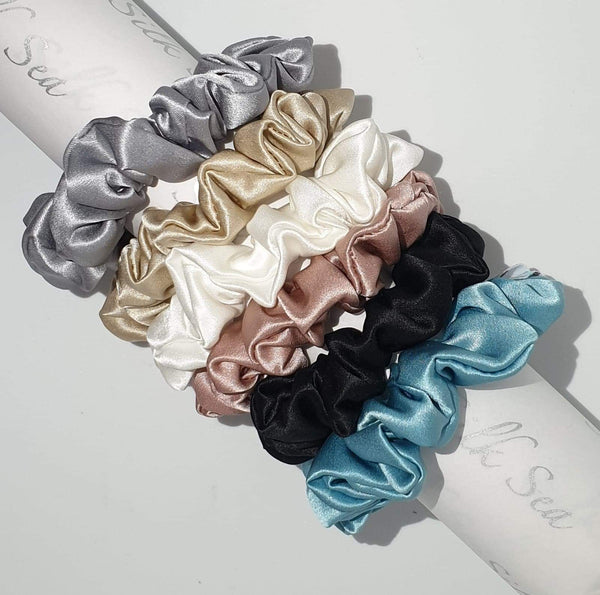 Silk Sea Luxury 100% mulberry silk scrunchie in 6 beautiful colours